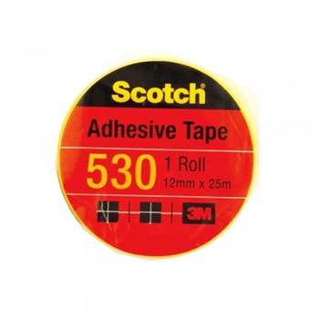 """3M Scotch 530 Tape 12mmx25m(1"""" core)"""