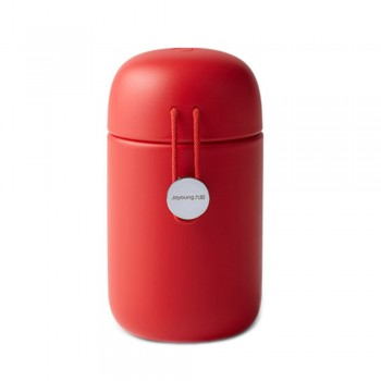 Joyoung 316L Stainless Steel Mini Portable Cute with Red String Thermal Flask - 320ml Red