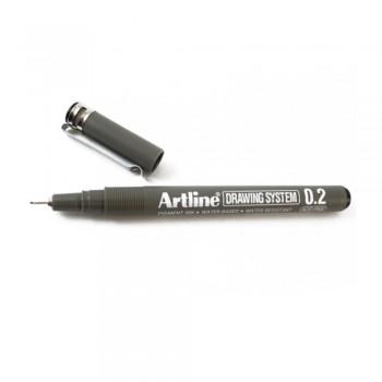 Artline Black Drawing System Pen 0.2mm (EK-232)
