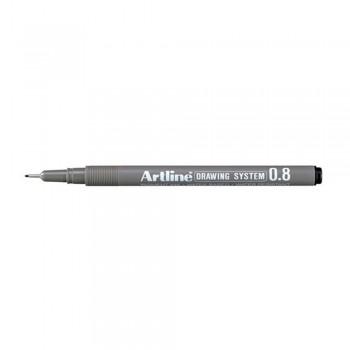 Artline Black Drawing System Pen 0.8mm (EK-238)