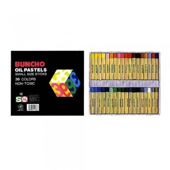 BUNCHO Oil Pastels Small Size Sticks - 36 colors