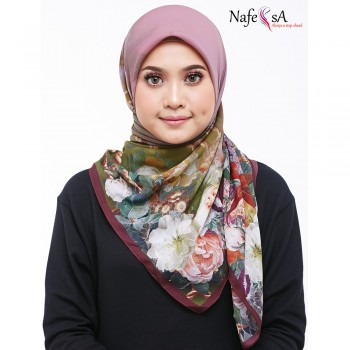 Nafeesa Camelia Antique Ruby Shawl