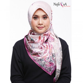 Nafeesa Floral Purple Shawl