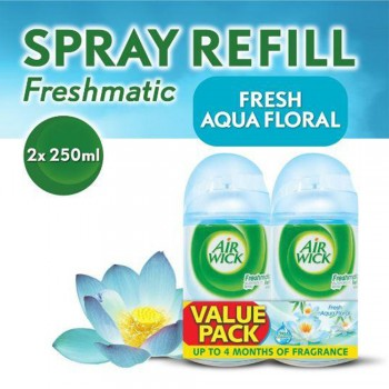 Air Wick Freshmatic Aqua Floral Refill 250ml x2 (Value Pack)