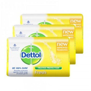 Dettol Body Soap Fresh 65g x 3's