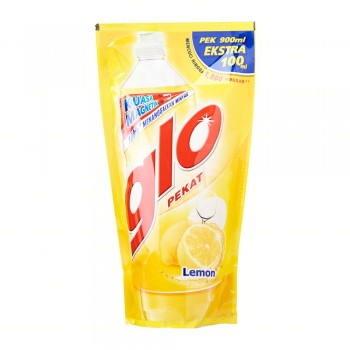 Glo Pekat Lemon Dishwashing Liquid 1L Refill