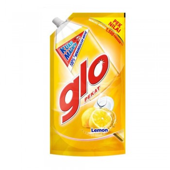 Glo Pekat Lemon Dishwashing Liquid 850ml Refill