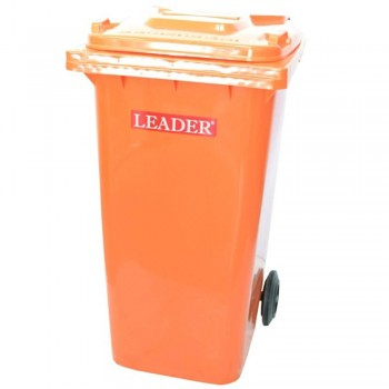 LEADER Mobile Garbage Bins BP 120 Orange