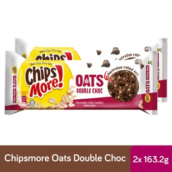 Chipsmore Oats Double Choc Cookies (163.2g x 2)