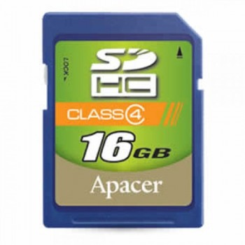 Apacer SDHC Class 4 Memory Card - 16GB