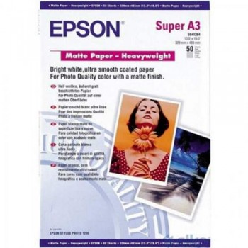 Epson Matte Paper Heavyweight - A3/50shts (Item No:EPS SO41261)