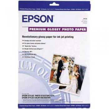 Epson S041288 Premium Glossy Photo Paper - A3 - 20sheets - 255g