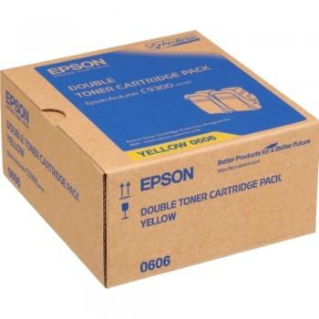Epson SO50606 Double Pack Yellow Toner (Item No:EPS SO50606)