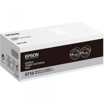 Epson SO50710 Double Pack Black Toner (Item No: EPS SO50710)