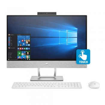 "HP Pavilion Touchsmart 24-r131d 23.8"" FHD IPS AIO Desktop PC - i3-8100T, 4GB DDR4, 1TB, AMD R530 2GB, W10"