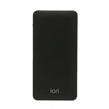 Ion PQ7 Qualcomm Quick Charge 3.0 +Type C 6A 30W Dual Output & Input 10000mAh 10mm Ultra Slim, Black