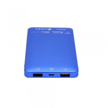 Ion PQ7 Qualcomm Quick Charge 3.0 +Type C 6A 30W Dual Output & Input 10000mAh 10mm Ultra Slim, Racing Blue