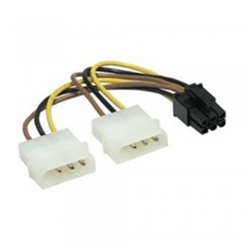 2 x 4 Pin (Male) to 6 Pin (Male) Cable 15cm