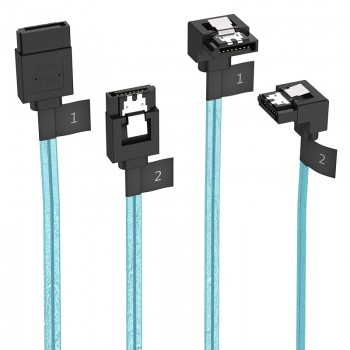 Orico 2 Pack SATA III Cable With Locking Latch, 6 Gbps, 0.5M & 0.55M
