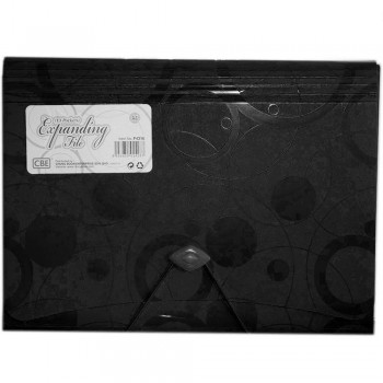 CBE 4316 13P Expanding File (A4) Black (Item No: B10-125 BK)