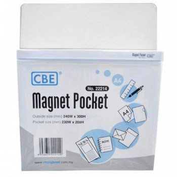 CBE Magnet Pocket 22214 A4 - White (Item No: B10-185W) A1R3B130