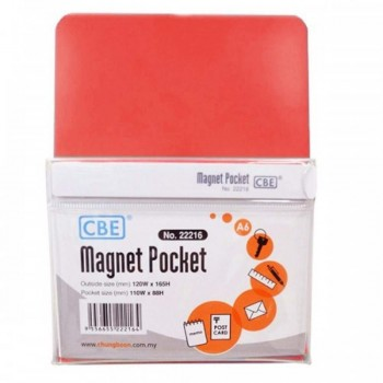 CBE Magnet Pocket 22216 A6 - Red (Item No: B10-187R) A1R3B129