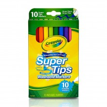 Crayola 10ct Super Tips Washable Markers - 588610