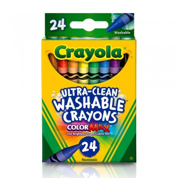 Crayola 24ct Regular Wash Crayons Non Toxic - 526924