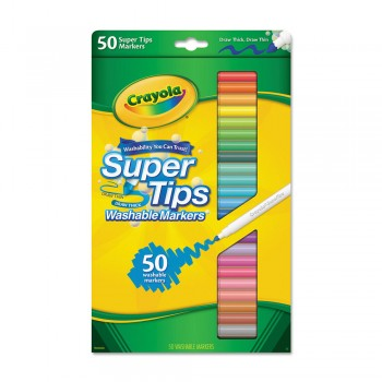 Crayola 50ct Super Tips Washable Markers - 585050