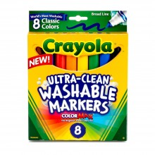 Crayola 8ct Broad Line Classic Washable Markers - 587808