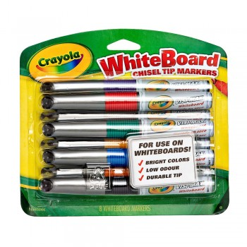 Crayola 8ct Chisel Tip Dry Erase Markers - 988900