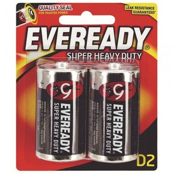 EVEREADY Super Heavy Duty C Carbon Zinc Batteries - C Size - 2pcs (Item No: B06-16) A1R2B229