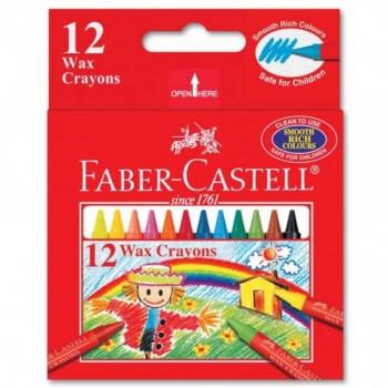 Faber Castell Wax Crayons 122412 - 12pcs (Item No: A02-22) A1R1B152
