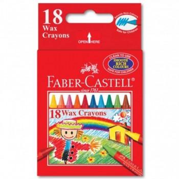 Faber Castell Wax Crayons 122418 - 18pcs (Item No: A02-23) A1R1B153