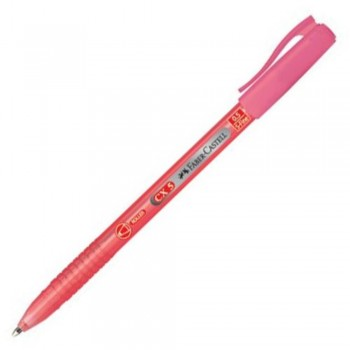 Faber Castell CX5 Ball Pen - 0.5mm Super Fine - RED (Item No: A02-06 CX5RD) A1R1B18