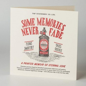 Letterpress Card - Love - Some Memories Never Fade