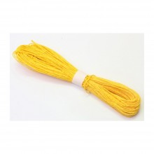Colorful Paper Rope 25meters - Yellow