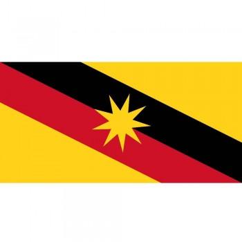 "Sarawak Bendera - Woolen Flag 3""x 6"" (Item No: C04-09)"