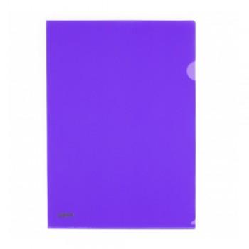 L Shape Transparent (Purple) Document Holder File A4 Size