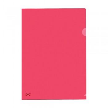 L Shape Transparent (Red) Document Holder File A4 Size