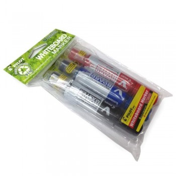 Pilot V-Board Master Whiteboard Marker - Medium Bullet Tip -3 Colors - (Item No: A09-04 WBM-BLR) A1R3B9