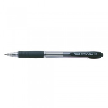Pilot BPGP-10R Fine Super Grip Ball Pen 0.7mm - Black