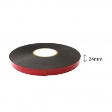 Double Sided PE Foam Tape (Black) - 24mm X 8m