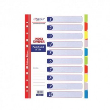 Finepap Plastic Index Divider 10 Tabs (S6208)