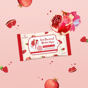 Aufairy Anti Bacterial Wipes - Pomegranate Scent - 10pcs (4 in 1)