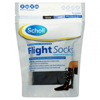 Scholl Cotton Feel Flight Socks Size 3-6