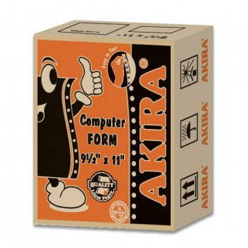 "Akira Orange Ncr 2Ply Wy 9.5"" X 11"" (500Fans)"