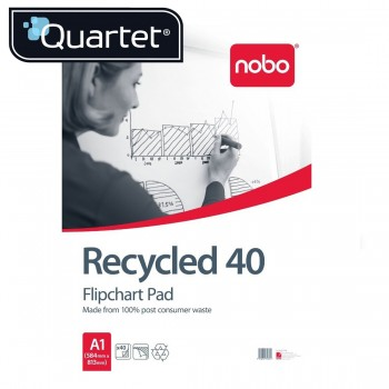 Quartet Flipchart Pad Plain 40 A1 40 Sheets